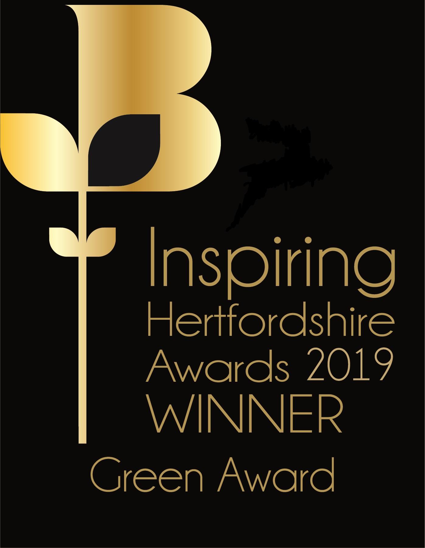 Inspiring Herts Green award JPA