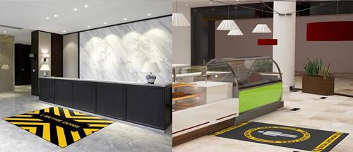 Social distance office reception mats