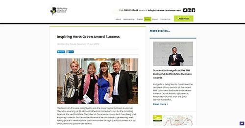 Inspiring Herts Green Award Success